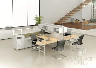Open Plan Systems Peninsula Desk Workstations